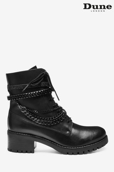 Dune London Primrose Black Chain Bracelet Ankle Boots