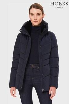 Hobbs Blue Izzy Padded Jacket