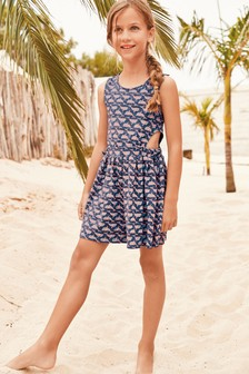 Print Cut Out Playsuit (3-16yrs)