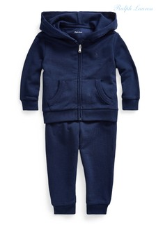 Ralph Lauren Navy Logo Fleece Set