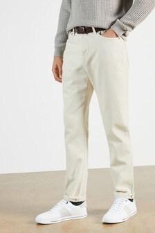 Ted Baker Peik Ecru Wide Fit Jeans