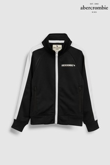 Abercrombie & Fitch Black Taped Track Top