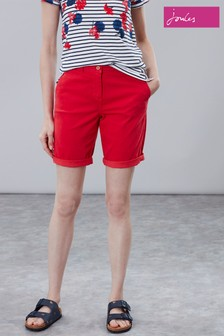 Joules Red Cruise Long Chino Short