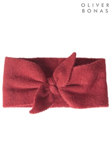 Oliver Bonas Knotted Sparkle Red Bow Headband