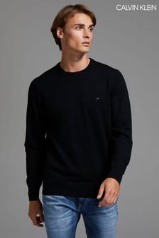 Calvin Klein Black Superior Wool Sweater