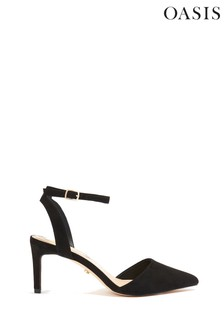 Oasis Black Stacie Pointed Toe Heels