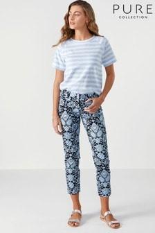 מכנסי קפרי כחולים של Pure Collection