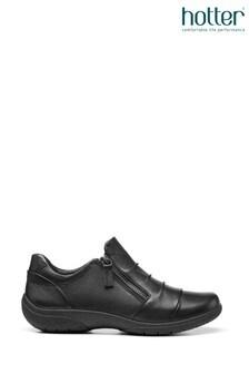 Hotter Alder Slim Fit Zip Fastening Flat Shoes