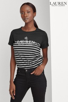 Lauren Ralph Lauren® Stripe Logo Hailly T-Shirt