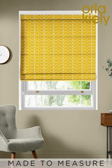 Linear Stem Dandelion Yellow Made To Measure Roman Blind by Orla Kiely