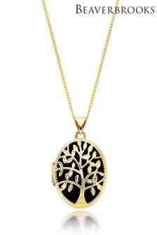 Beaverbrooks 9ct Gold Tree Locket Pendant