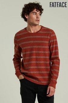 סוודר עם צווארון מעוגל דגםCharlton בצבע כתום שלFatFace