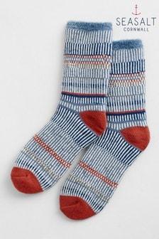 Seasalt Blue Cabin Socks