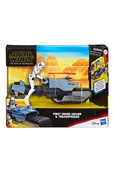 Star Wars™: Galaxy of Adventures First Order Driver & Treadspeeder Figure & Vehicle