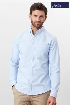 Joules Blue The Slim Long Sleeve Laundered Oxford Shirt