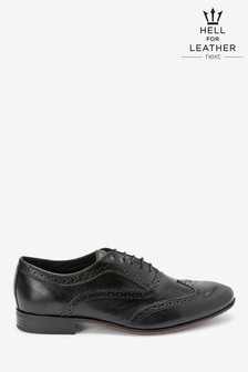 Leather Oxford Brogue Shoes