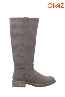 Divaz Green Quinn Knee High Boots