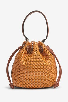 Weave Bucket Bag