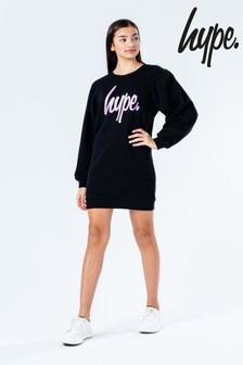 Hype. Glitter Script Sweat Dress