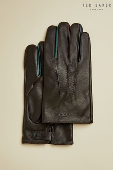 Ted Baker Parm Contrast Detail Leather Gloves