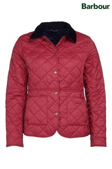 Barbour® Coastal Claret Red Lightweight Deveron Quilted Jacket