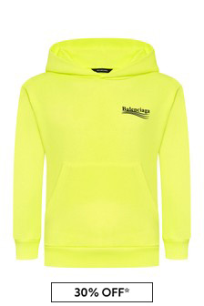 Kids Yellow Cotton Hoody
