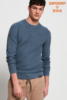 Superdry Garment Dyed L.A Textured Crew Jumper