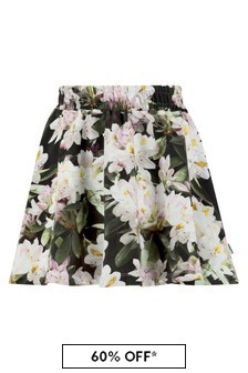Molo Girls Black Cotton Skirt
