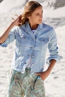 M&Co Blue Denim Western Jacket