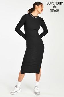 Superdry Black Long Sleeve Dress