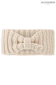 Accessorize Nude Bea Chunky Knit Bando Hat