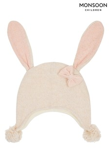 Monsoon Children Brown Baby Victoria Bunny Ear Nepal Hat