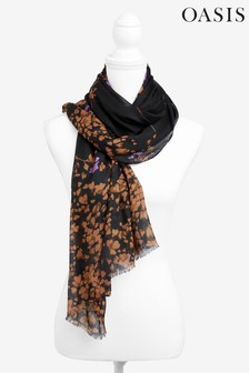 Oasis Orange Floral Recycled Scarf