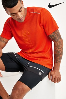 Nike Dri-FIT Miler Printed Running T-Shirt