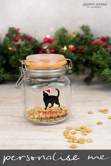 Personalised Cat Treat Jar by Jonny's Sister