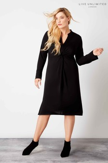 Live Unlimited Black Knot Tie Dress