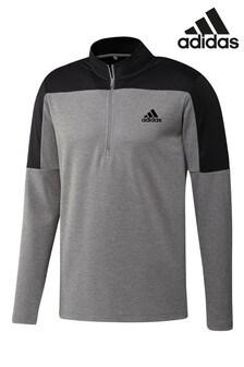 adidas Grey Golf Equipment 1/4 Zip Sweat Top