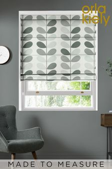 Multi Stem Warm Grey Made To Measure Roman Blind by Orla Kiely