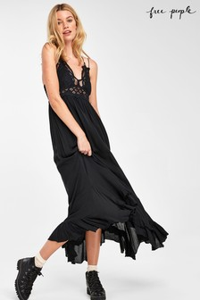 Free People Black Adella Maxi Dress