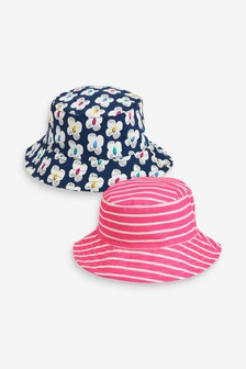 2 Pack Flower Fisherman's Hats (Younger)