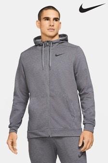 Nike Dri-FIT Charcoal Zip Through Training Hoodie
