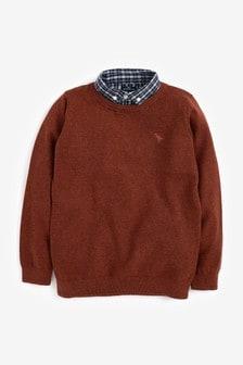 Mock Shirt Jumper (3mths-7yrs)