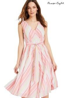 Phase Eight Cream Samantha Stripe Dress