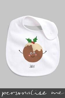 Personalised Christmas Pudding Bib