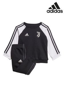 adidas Black Juventus Baby Sweatshirt And Joggers Set