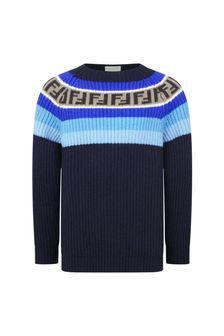 Fendi Kids Girls Wool & Cashmere Sweater