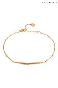 Mint Velvet Gold Tone Dagger Pave Bracelet