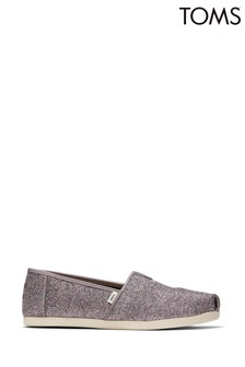 TOMS Silver Iridescent Glimmer Alpargata 3.0 Shoes