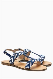 Metallic Weave Sandals