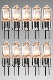 10 Pack 20W Halogen G4 Bulb